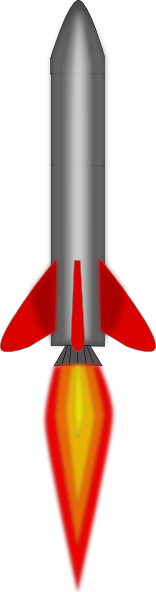 rocket flying clip art clkerm vector clip art #19691