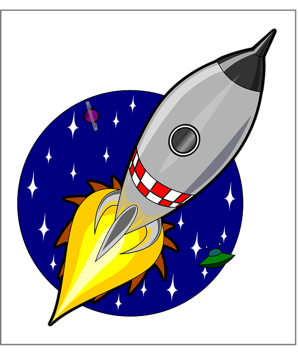 rocket ship launch vector graphic pixabay #19679