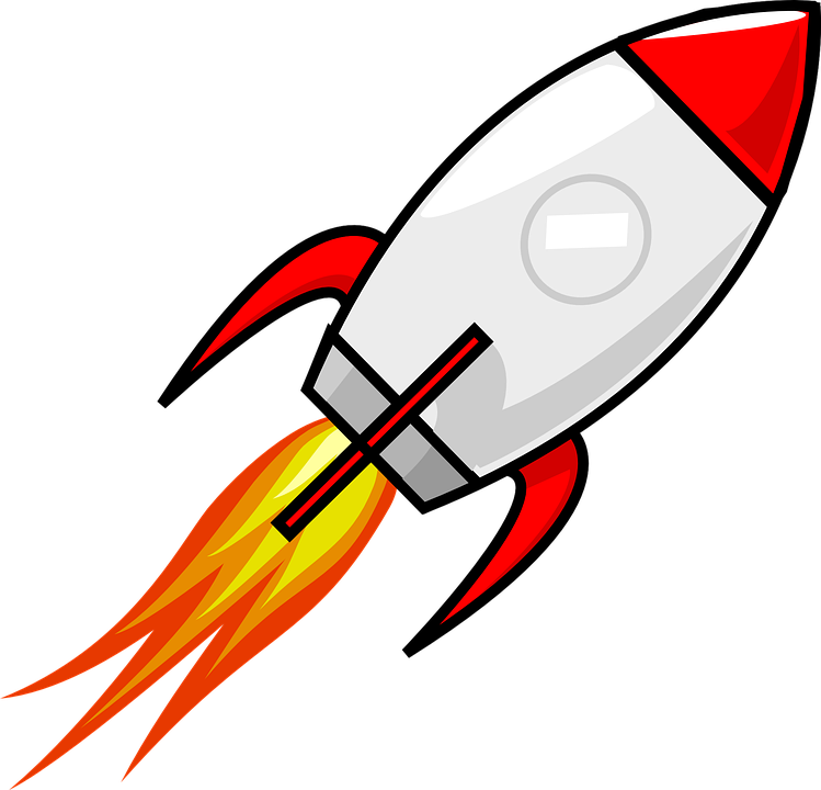 rocket space ship vector graphic pixabay #19665