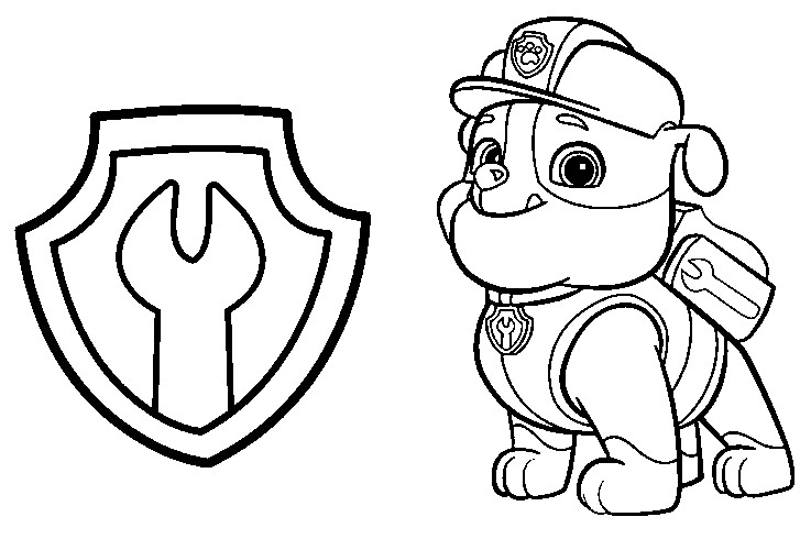 - Paw Patrol Coloring Pages - Free Transparent PNG Logos