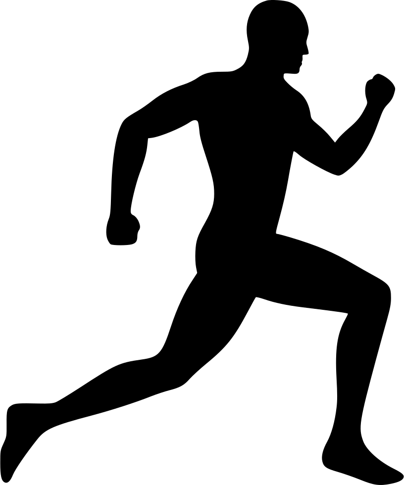 running icon, running man svg png icon download #27301