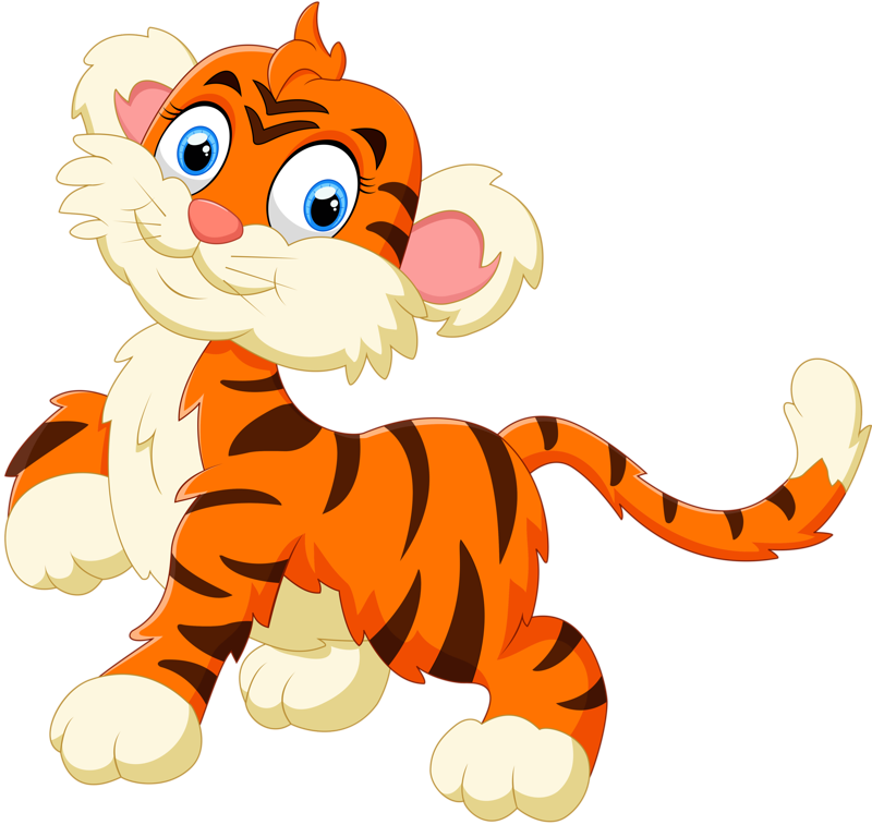 clipart baby tiger tigre transparent #39615