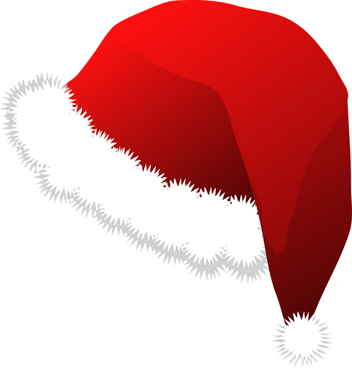 santa hat christmas costume vector graphic pixabay #17310