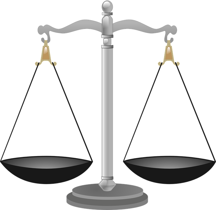 scales justice scale vector graphic pixabay #34803
