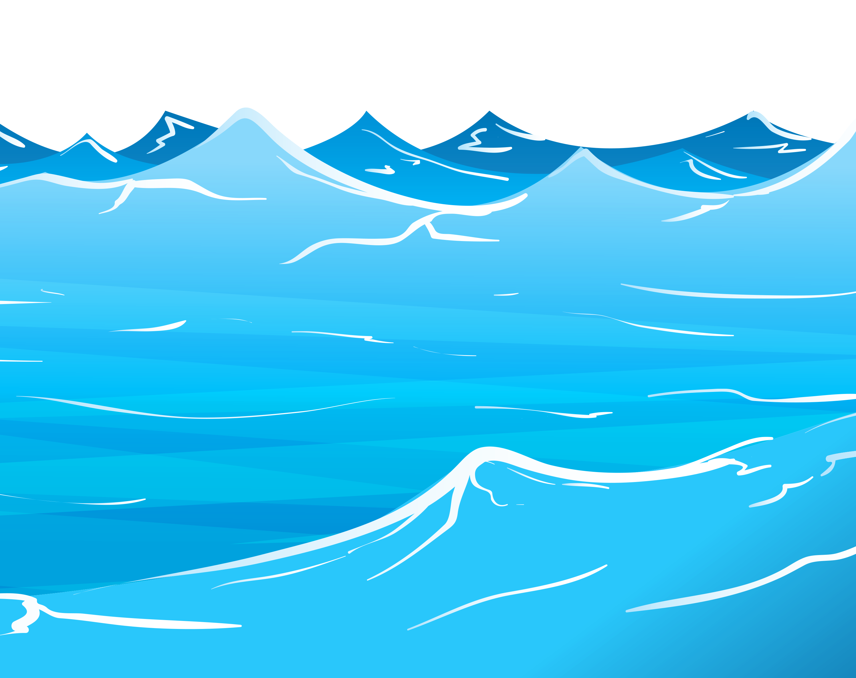 sea, water clipart boarder pencil and color water clipart #17872