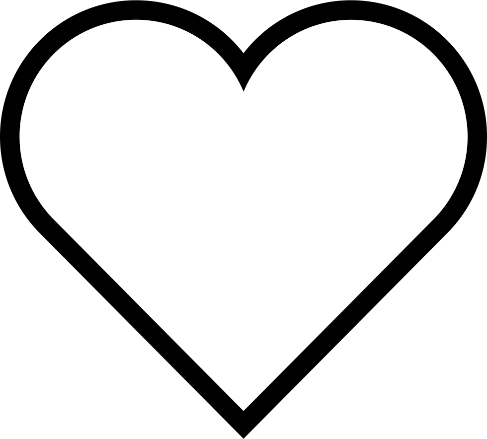 heart shape, ios heart outline svg png icon download #27541