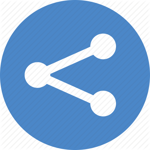 android blue circle network share sharing social icon #23621