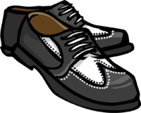 image black zoot shoes club penguin wiki the #17759
