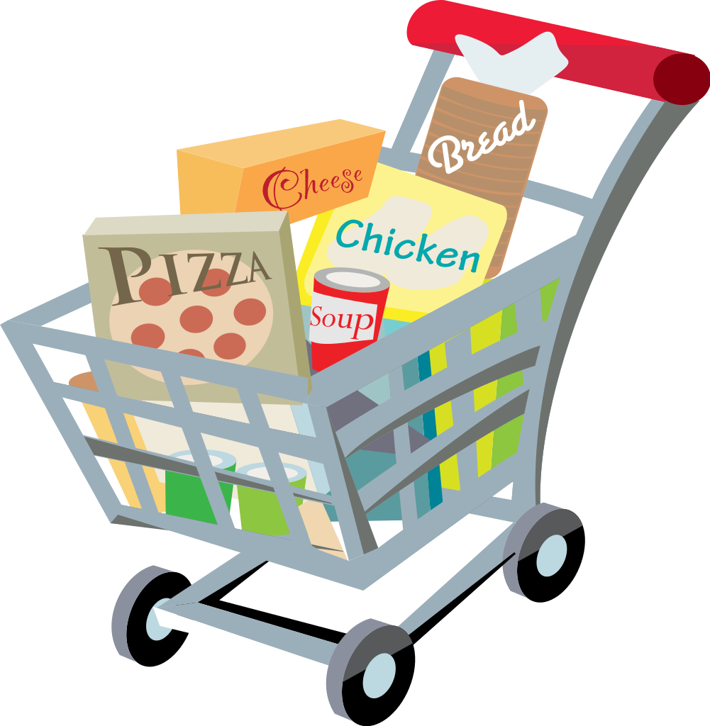 file shopping cart with food clip art svg wikimedia #20388