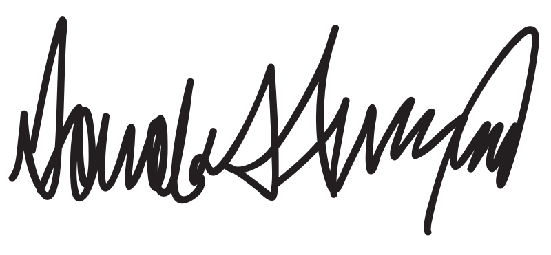 donald trump signature png #40167