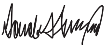 donald trump signature transparent #40170