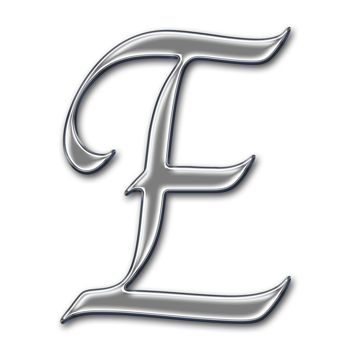Silber Letter e Png  #1408