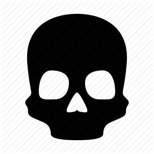 danger dead death halloween head skeleton skull icon #13811