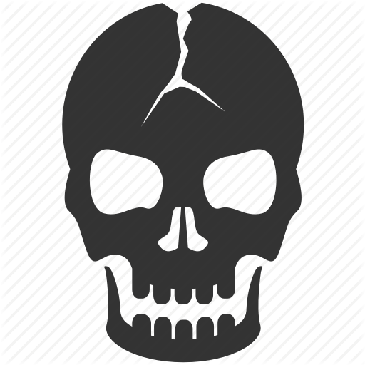danger death evidence halloween horror scary skull icon #13779
