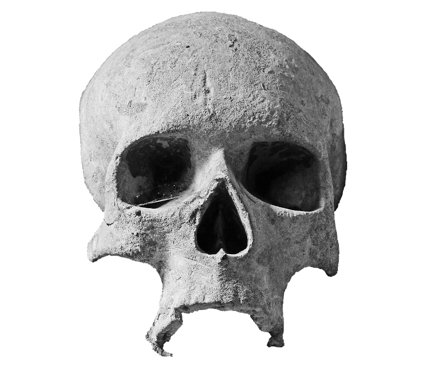 skull stone head photo pixabay #13735