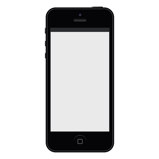 iphone black smartphone mockup transparent png svg vector #12080