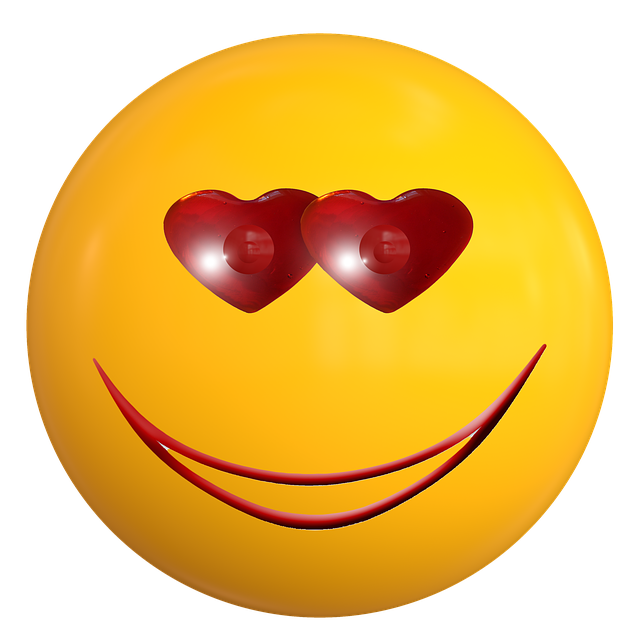 illustration smile emoticon love ball face #17301