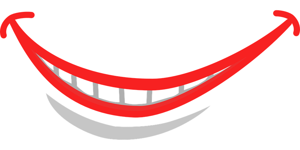 vector graphic smile grin mouth lips close #17246
