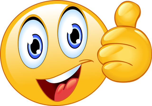 thumbs smiley face emoji vector graphic pixabay #9896