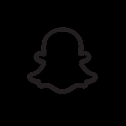 snapchat logo outline png