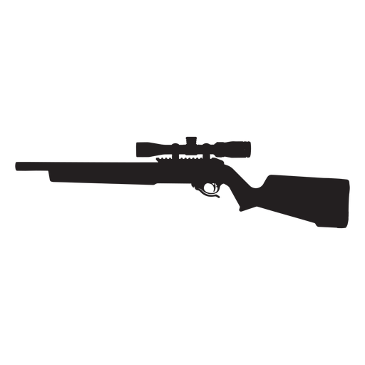sniper rifle grey silhouette transparent png svg vector #30206