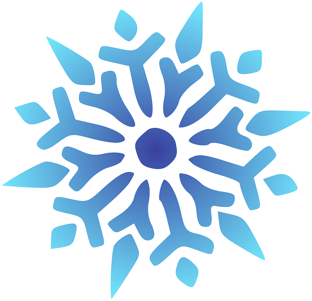 snowflake blue vector graphic pixabay #10521