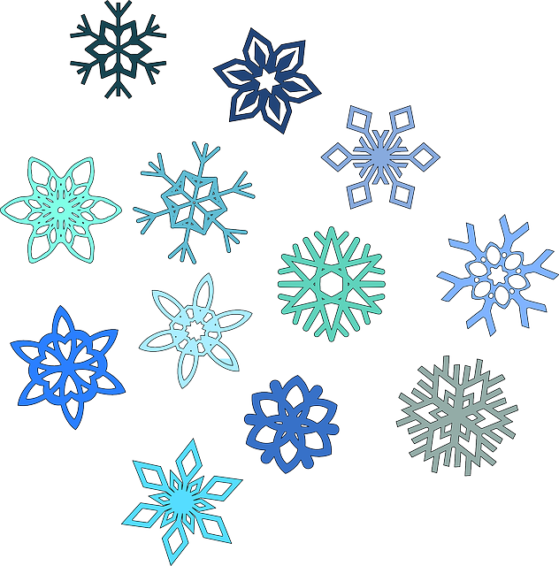 snowflake hexagon snow vector graphic pixabay #10517