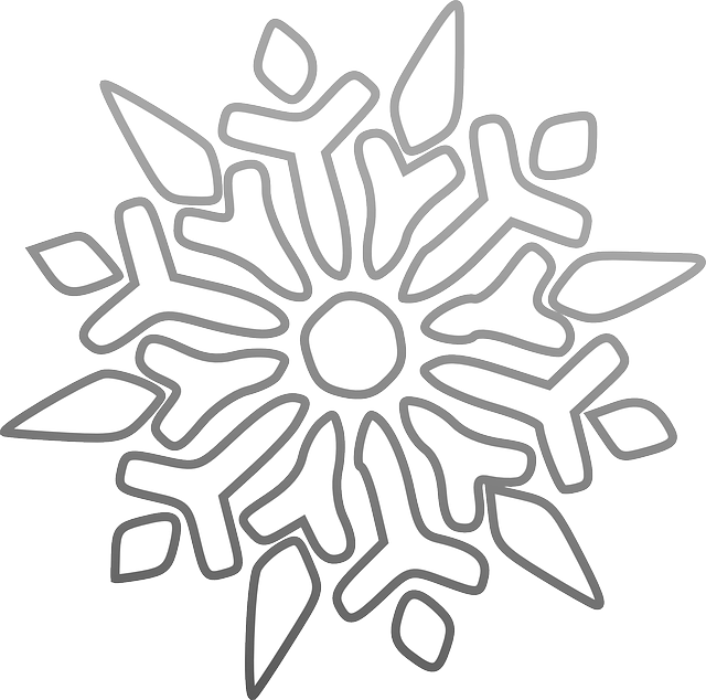 snowflake ice star vector graphic pixabay #10487