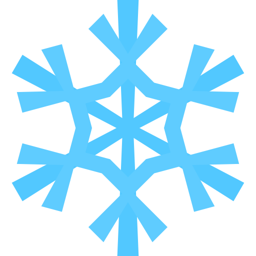 snowflake icon christmas flat color iconset icons #10496