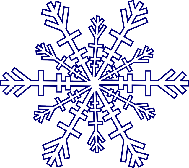 snowflake winter cold vector graphic pixabay #10505