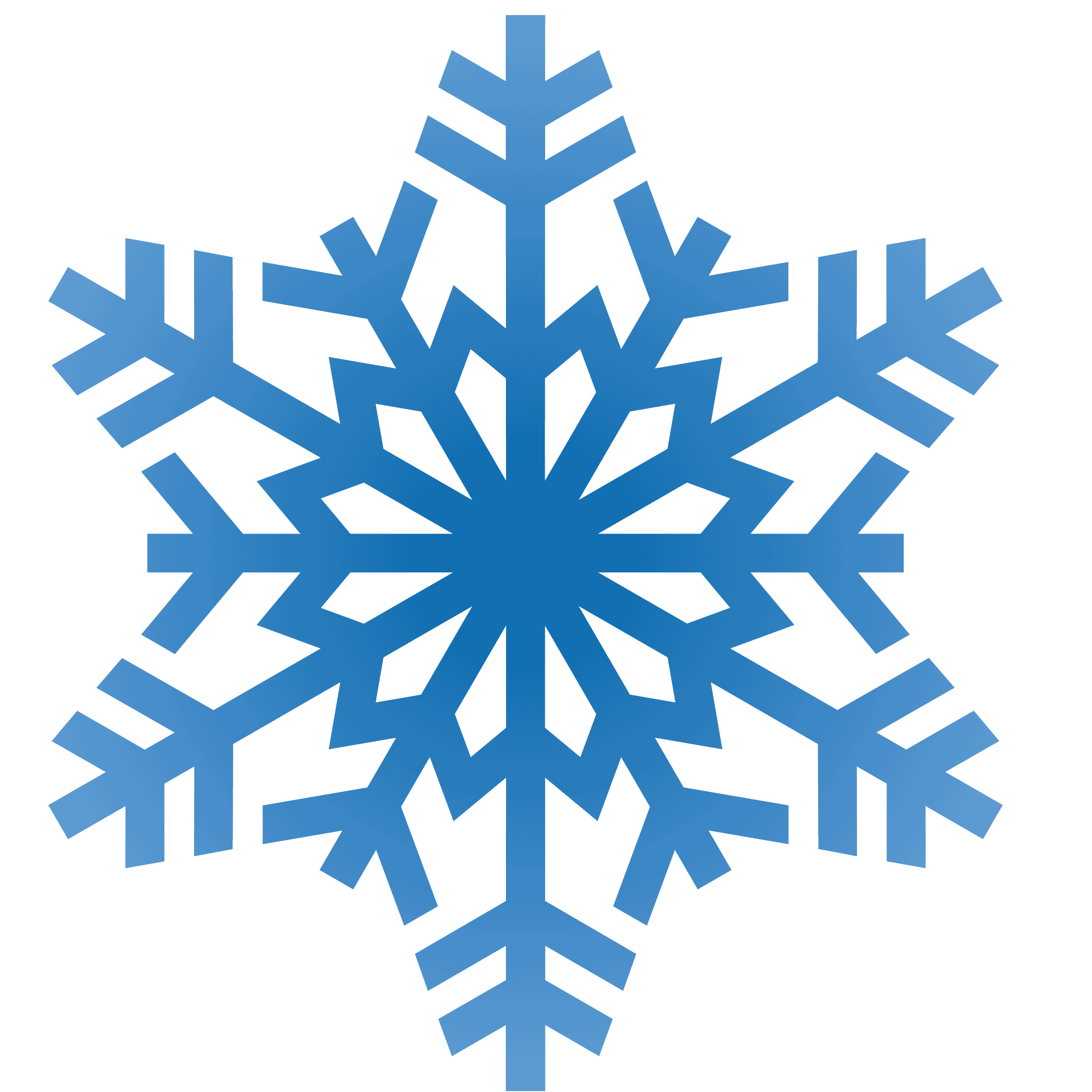 snowflakes snowflake clipart transparent background #10483