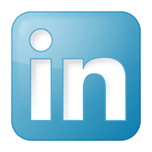 social linkedin box blue logo #1827