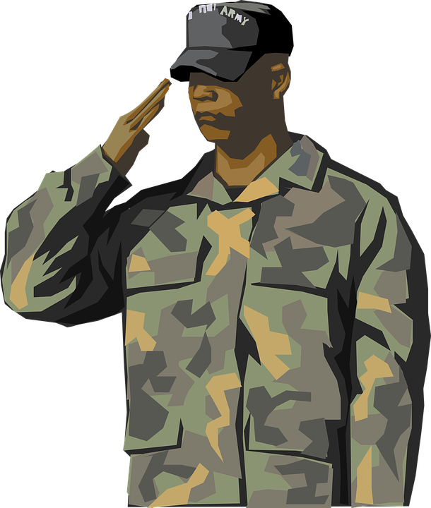 soldier saluting salute vector graphic pixabay #20183