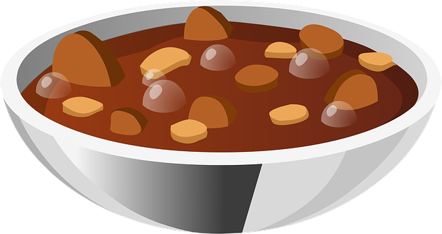 soup stew beans vector graphic pixabay #30372