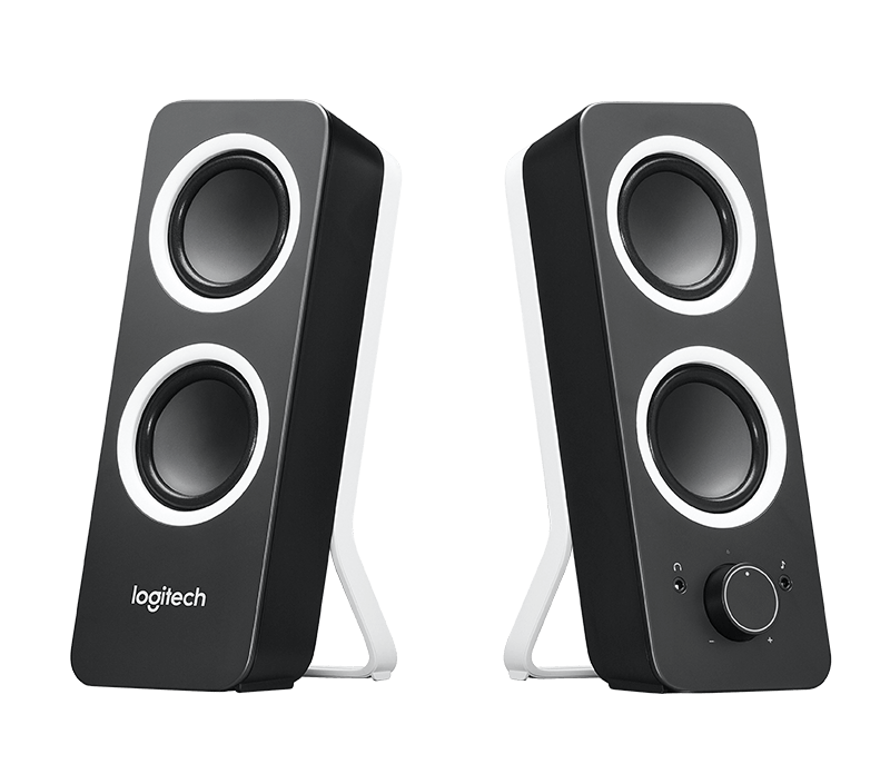 speaker, logitech stereo speakers with bass control 16041