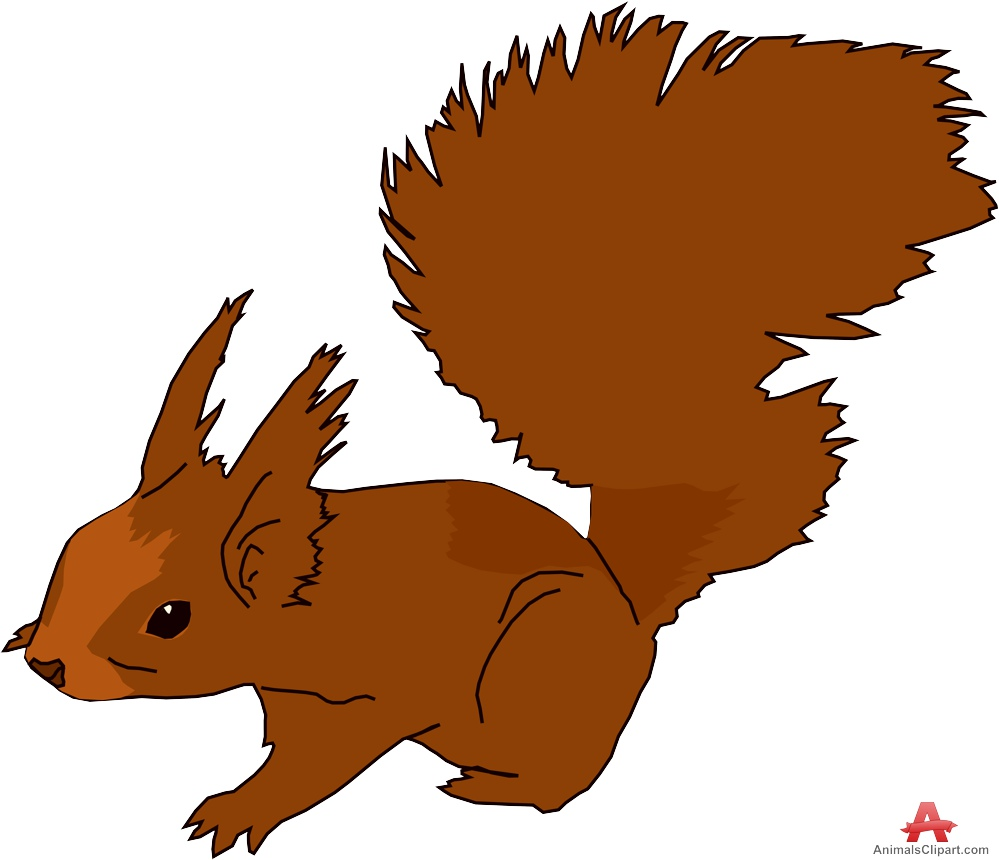 brown squirrel clipart design download #37281