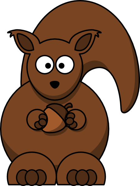 cartoon squirrel clipart #37275