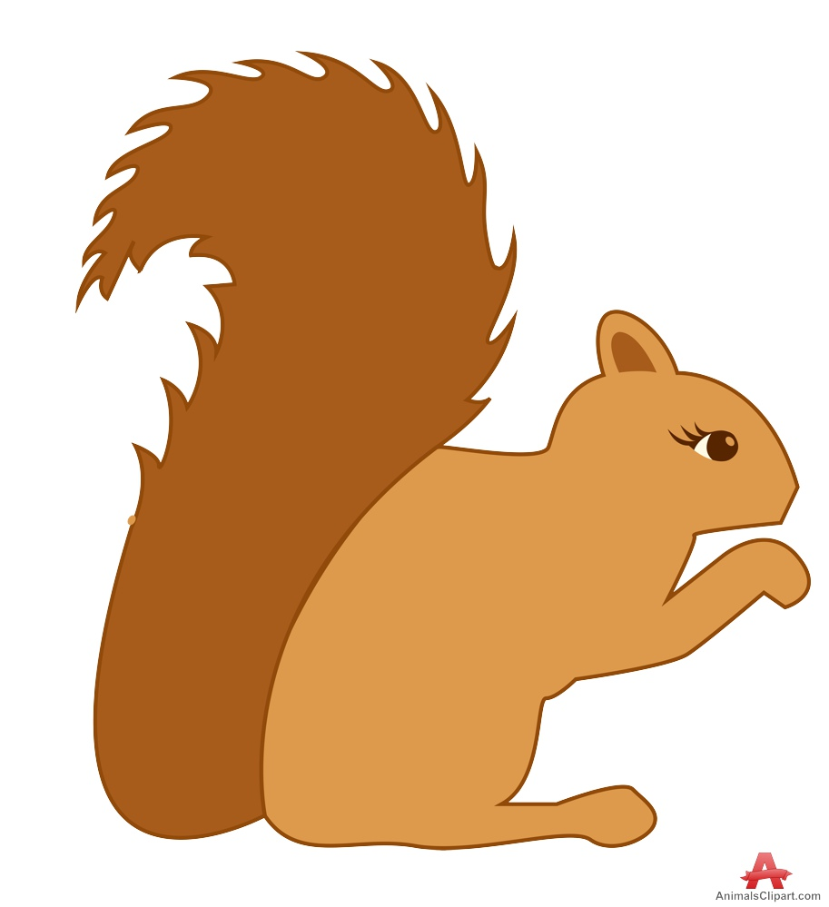 cute brown squirrel clipart design download #37274