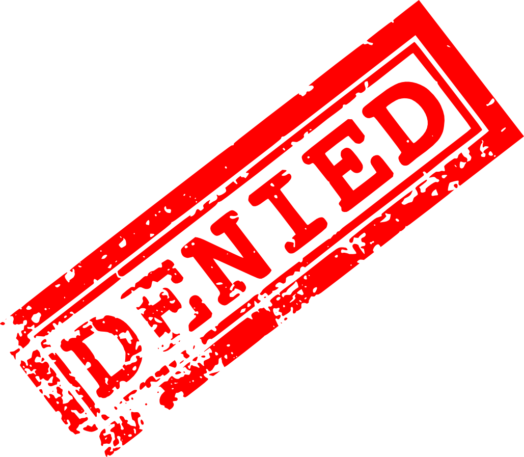 red denied stamp png transparent onlygfxm #28729