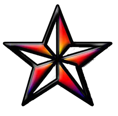 download nautical star tattoos transparent image #8681