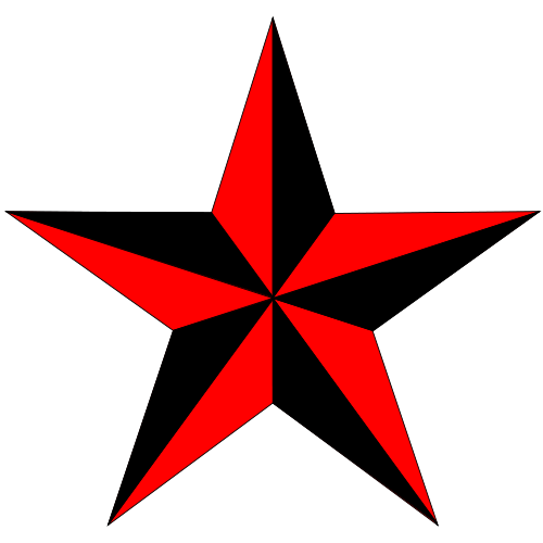 red nautical star tattoos transparent images #8698