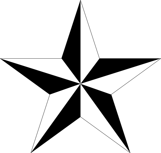 vector graphic pentagram polygon shape star #8709