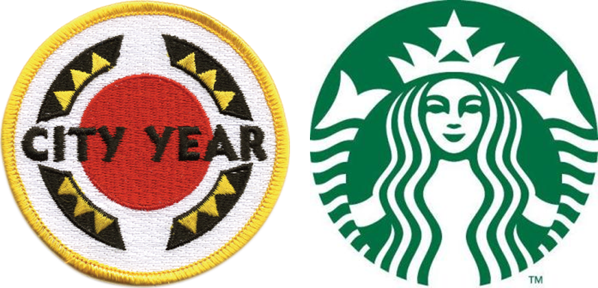 Starbucks and City year Logo Png #1671
