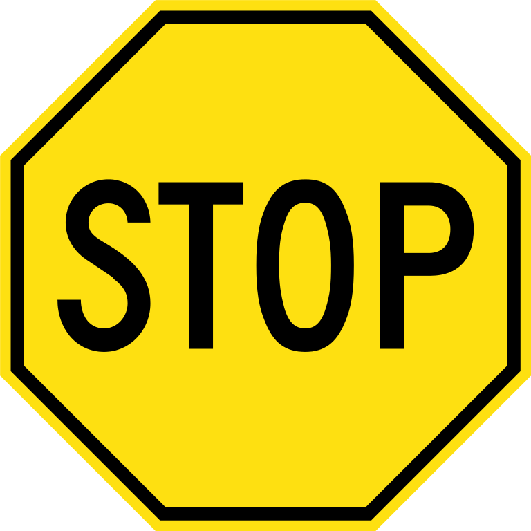 file yellow stop sign svg wikimedia commons #19346
