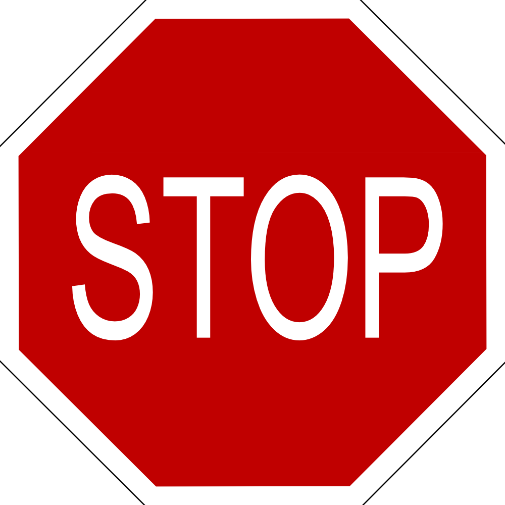 onlinelabels clip art stop sign with black border #19359