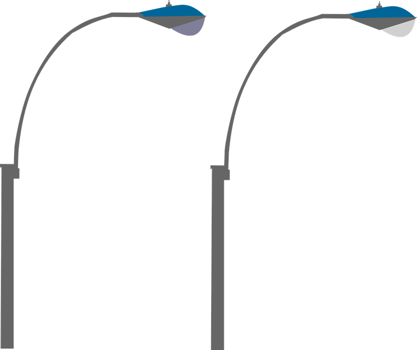 street light, street lamp road vector graphic pixabay 20910