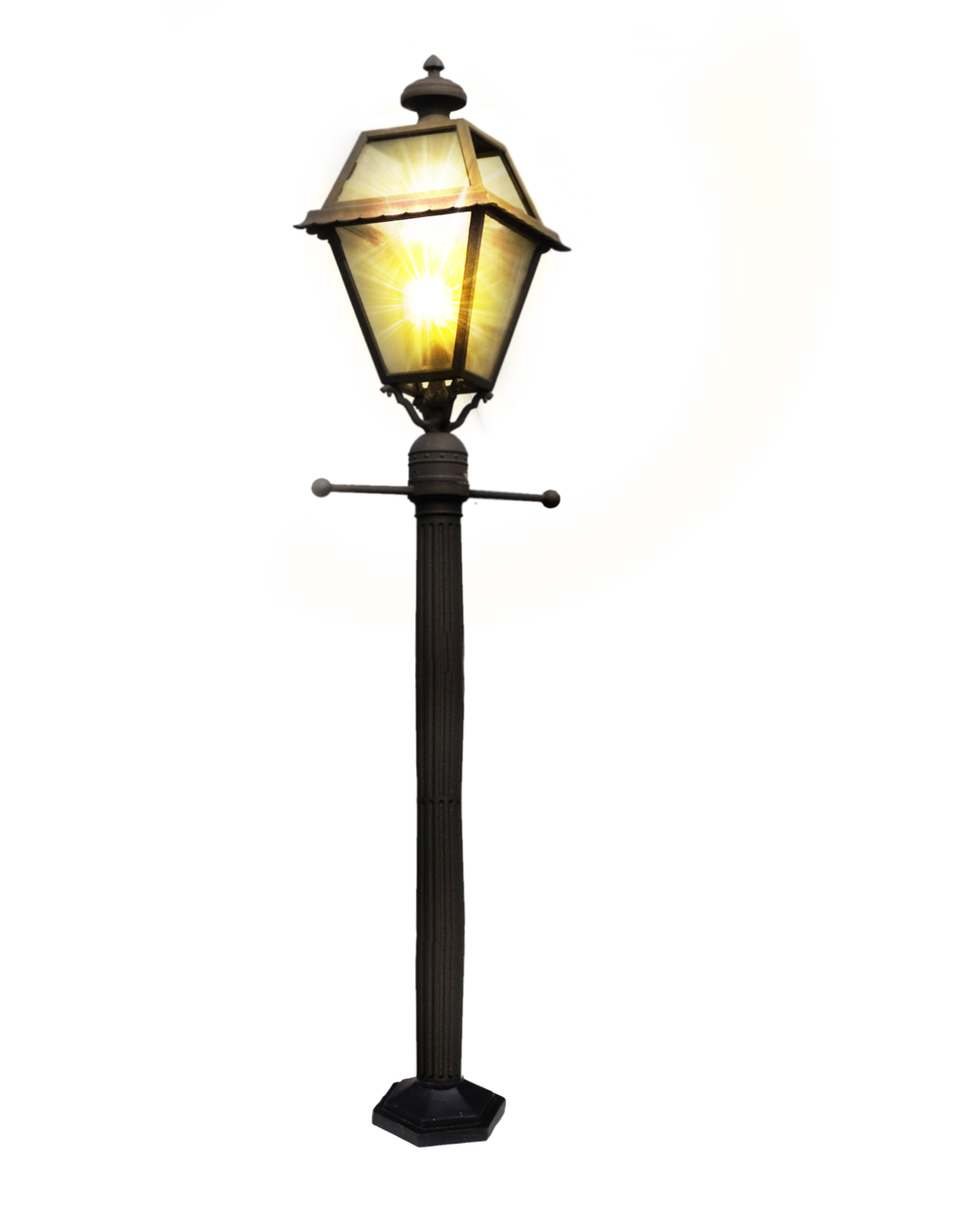 victorian clipart street light pencil and color #20856