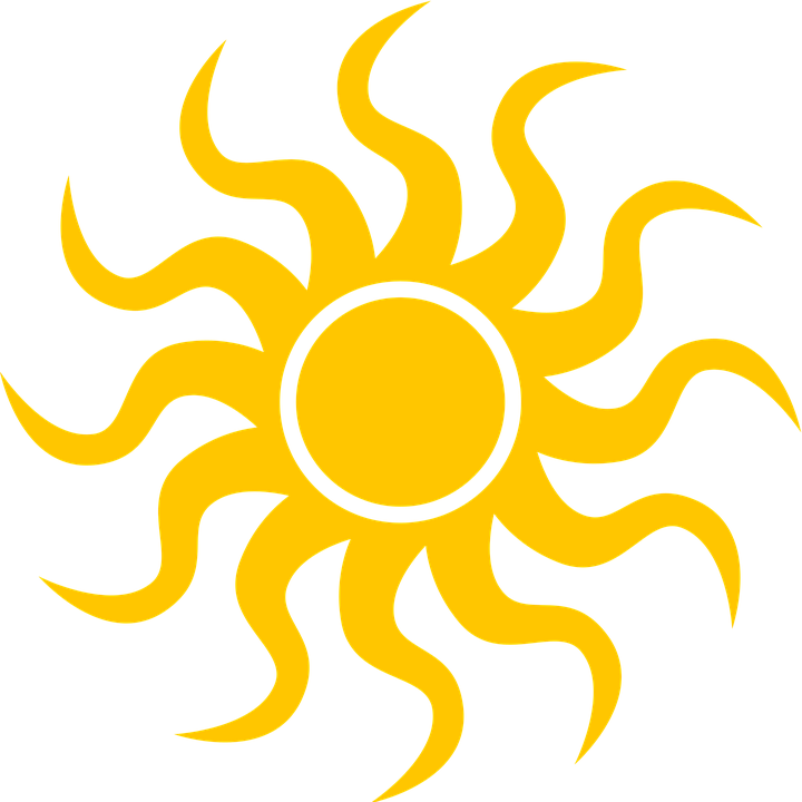 illustration sun icon weather hot seem #9632