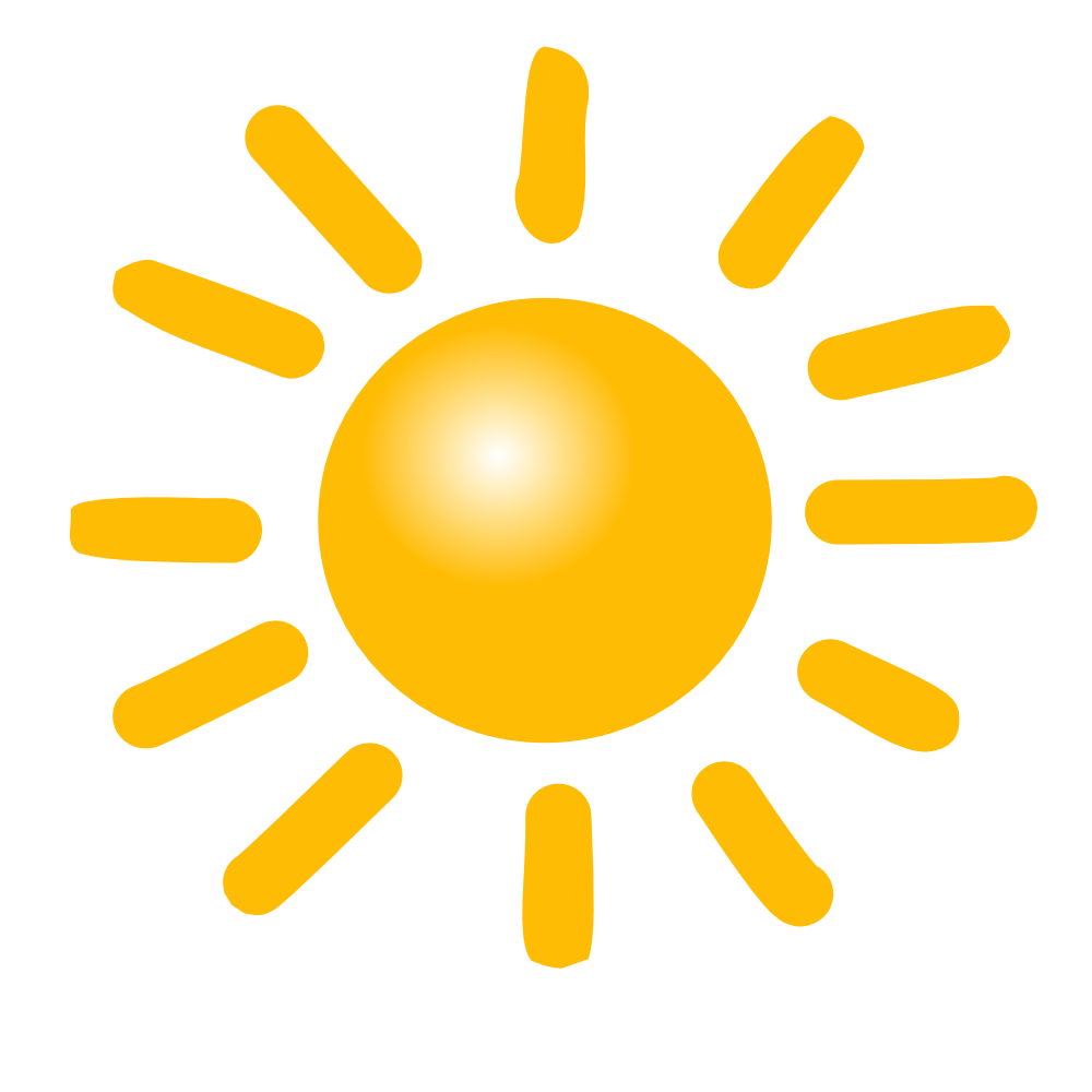 onlinelabels clip art weather symbols sun #9662