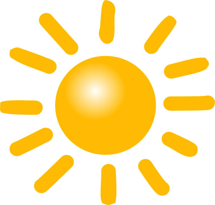 sun weather sunny vector graphic pixabay #9657